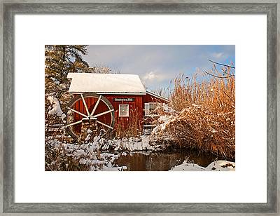 Kimberton Mill After Snow Framed Print