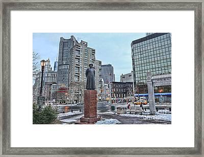 Kimlau Square - Chinatown Framed Print by Lee Dos Santos