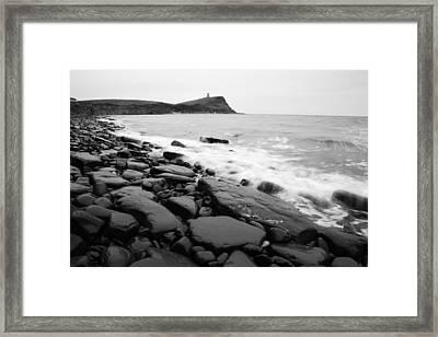 Kimmeridge Bay In Black And White Framed Print