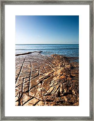 Kimmeridge Bay Seascape  Framed Print by Matthew Gibson