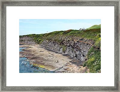 Kimmeridge Oil Field Framed Print by Martin Bond