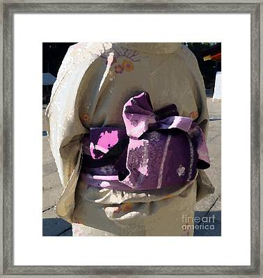 Framed Print featuring the photograph Kimono by Cassandra Buckley