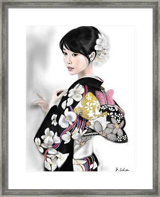 Kimono Girl No.1 Framed Print by Yoshiyuki Uchida
