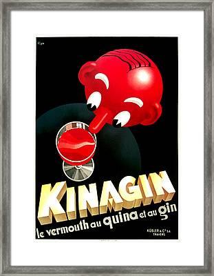 Kinagin Vermouth Red Framed Print