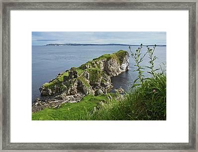 Kinbane Castle, West Of Ballycastle Framed Print by Carl Bruemmer