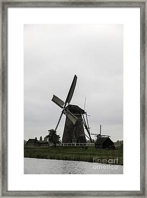Kinderdijk Windmill Museum 2 Framed Print by Teresa Mucha