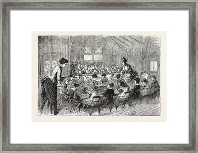 Kindergarten Cottage, Philadelphia Exhibition Framed Print by American School