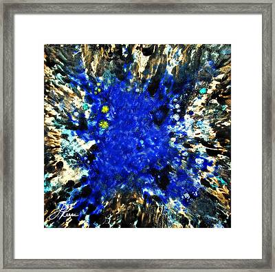 Kinetic Blue Framed Print by Joan Reese