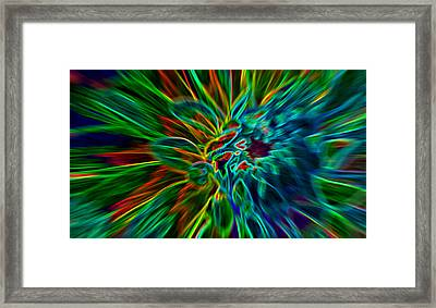 Kinetic Neon Abstract Framed Print by James Hammen