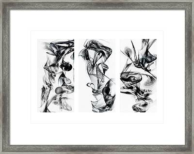 Kinetic Triptych Framed Print