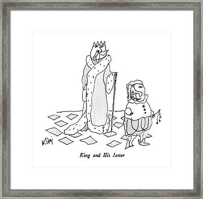 King And His Jester Framed Print by William Steig