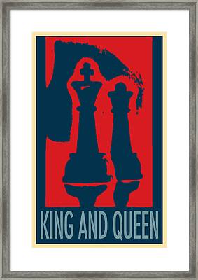 King And Queen In Hope Framed Print by Rob Hans