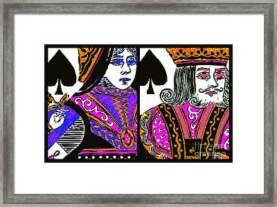 King And Queen Of Spade 20140812 Framed Print by Wingsdomain Art and Photography