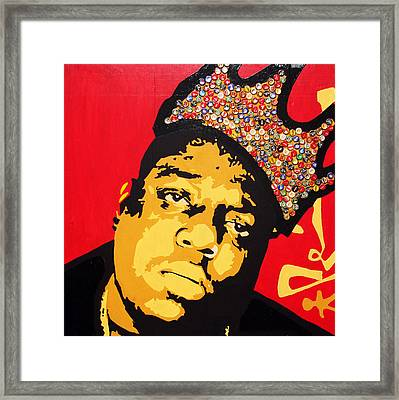 King Big Framed Print by Voodo Fe Culture