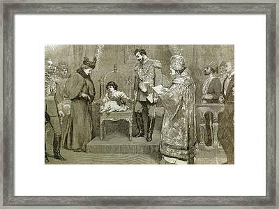 King Boris IIi (1894-1943 Framed Print by Prisma Archivo