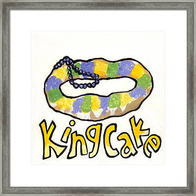 King Cake Framed Print by Elaine Hodges