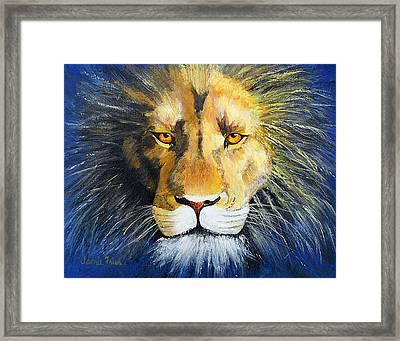 King Cat Framed Print by Jamie Frier