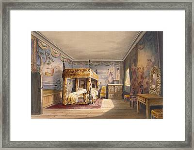 King Charles Room, Cotehele House Framed Print by English School