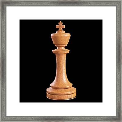 King Chess Piece Framed Print by Ktsdesign