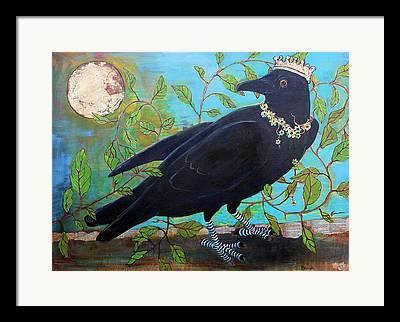 Blackbirds Mixed Media Framed Prints