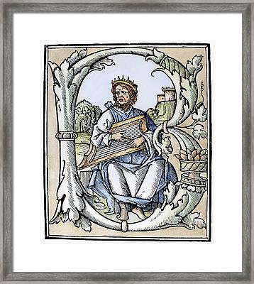 King David (d Framed Print by Granger