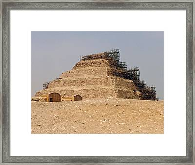 Framed Print featuring the photograph King Djoser The Great Of Saqqara by Anthony Baatz