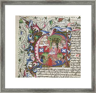 King Edward Iv Framed Print by British Library