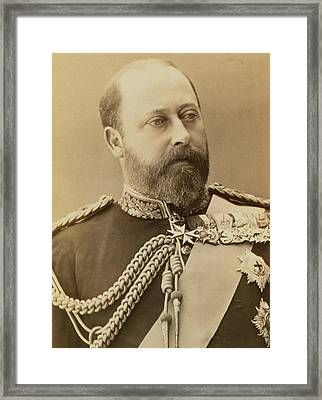 King Edward Vii  Framed Print by Stanislaus Walery