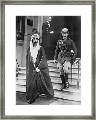 King Feisal Of Iraq Framed Print by Underwood Archives