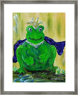 King For A Day Framed Print by Eloise Schneider