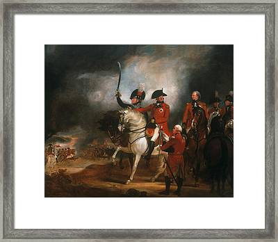 King George IIi And The Prince Of Wales Framed Print by Sir William Beechey