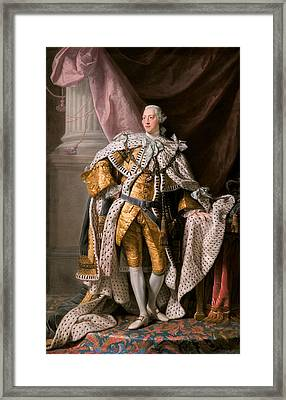 King George IIi In Coronation Robes Framed Print by Celestial Images