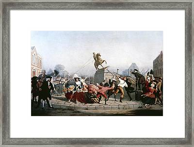 King George IIi Statue, 1776 Framed Print