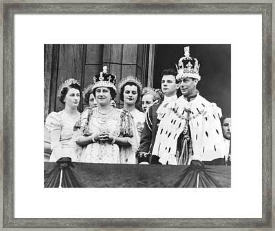 King George V! And Queen Framed Print by Underwood Archives