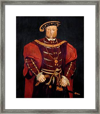King Henry Viii Framed Print by Bodleian Museum/oxford University Images