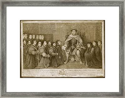 King Henry Viii Framed Print by Museum Of The History Of Science/oxford University Images