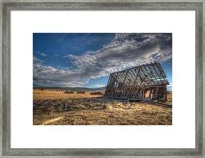 King Homestead Barn Framed Print by Joe Hudspeth
