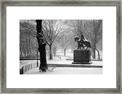King Jagiello Braves A Blizzard Framed Print by Cornelis Verwaal