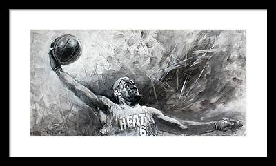Lebron James Framed Prints