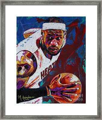 King James Framed Print by Maria Arango