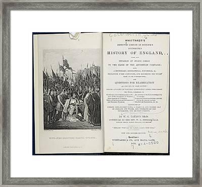 King John Signing The Magna Carta Framed Print