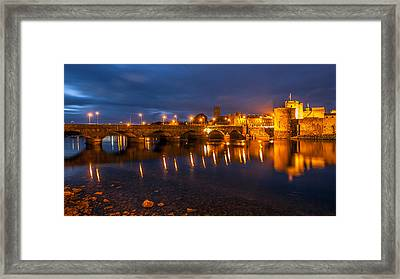 King John's Castle Limerick City Ireland Framed Print