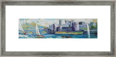 Framed Print featuring the painting King Johns Castle Limerick Ireland by Paul Weerasekera