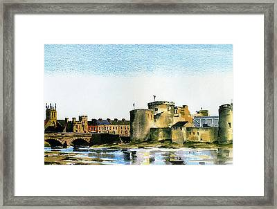 King Johns Castle Limerick Framed Print