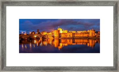 King John's Castle On The River Shannon Framed Print