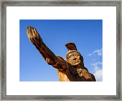 King Kamehameha Framed Print by Carol Leigh