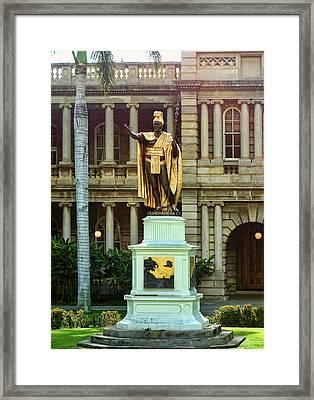 King Kamehameha I Framed Print