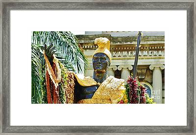 King Kamehameha The First Framed Print by Craig Wood