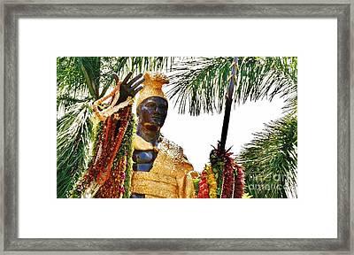King Kamehameha The Great Framed Print by Craig Wood