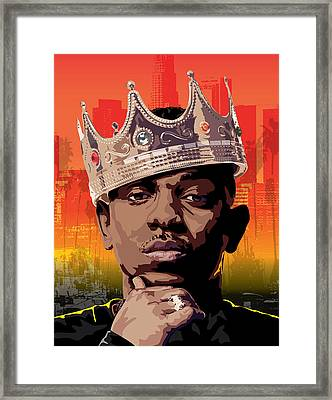 King Kendrick Framed Print